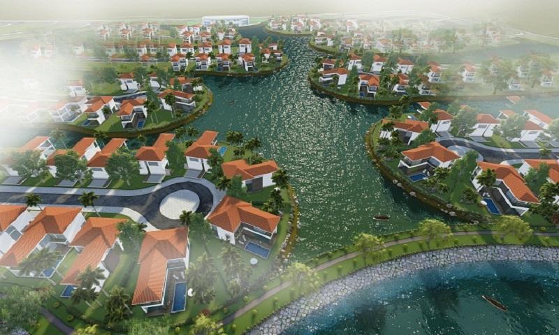 Phối cảnh biệt thự dự án khu đô thị sinh thái Xuân Cầu - Văn Giang