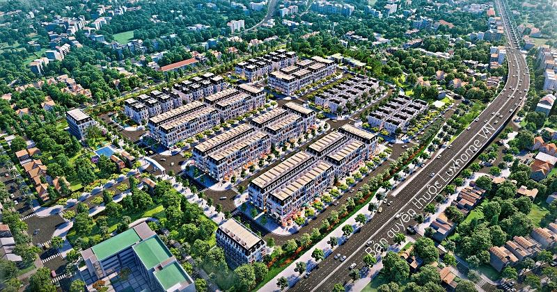 Phối cảnh dự án Central City Lạc Trung - Uông Bí