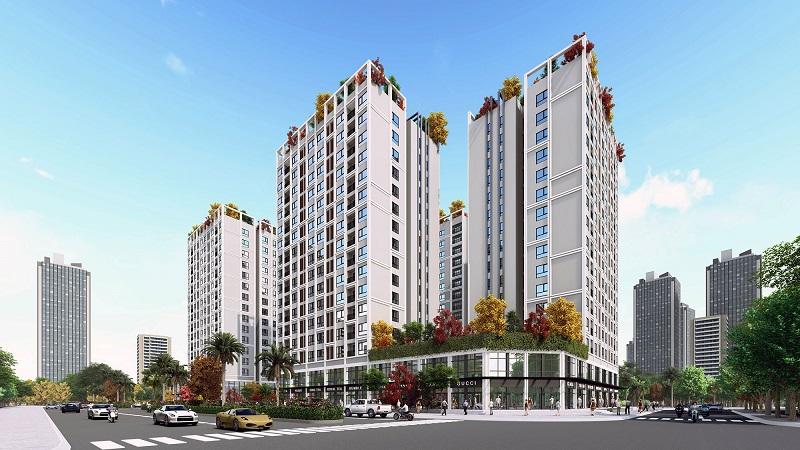 Phối cảnh Eco Smart City Cổ Linh - Long Biên