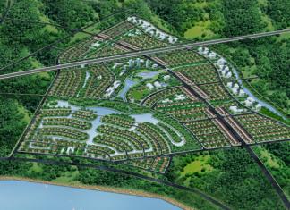 Phối cảnh dự án khu đô thị sinh thái Xuân Cầu - Văn Giang