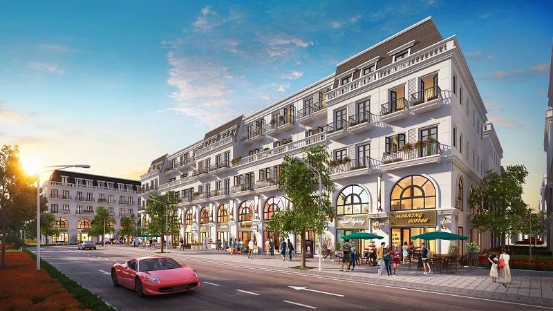 Phối cảnh shophouse dự án Central City Lạc Trung - Uông Bí