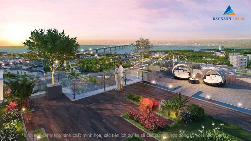 Phối cảnh vườn treo Eco Smart City Cổ Linh - Long Biên