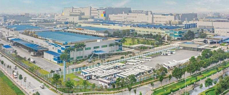 Cụm nhà máy Samsung Bắc Ninh đối diện khu nhà ở Mẫn Xá - Long Châu
