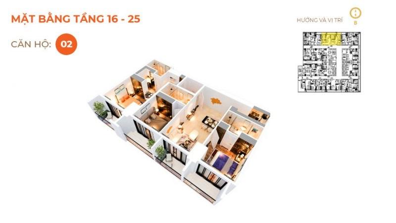 Thiết kế căn 02 The 6 Nature Đà Nẵng