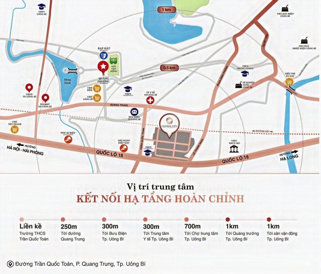 Kết nối dự án khu đô thị Central City Lạc Trung - Uông Bí