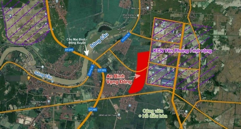 Vị trí đắc địa dự án An Bình Vọng Đông Central Park - Yên Phong - Bắc Ninh