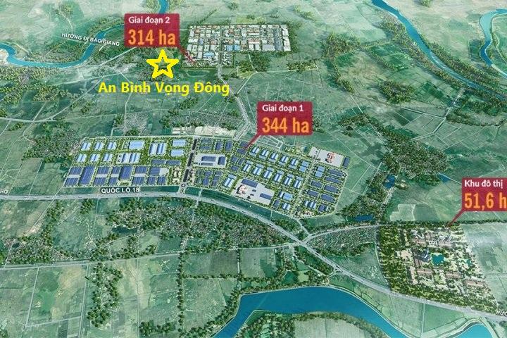 Vị trí An Bình Vọng Đông Central Park Yên Phong - Bắc Ninh