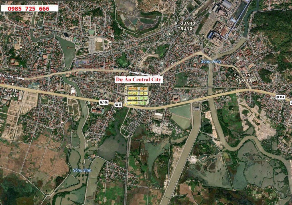 Vị trí dự án Central City Lạc Trung - Uông Bí