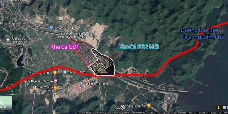 Vị trí La Emera Khe Cá - Hà Phong -Hạ Long