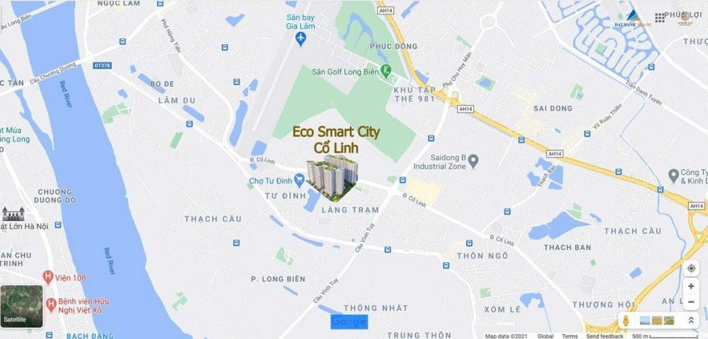 Vị trí Eco Smart City Cổ Linh - Long Biên
