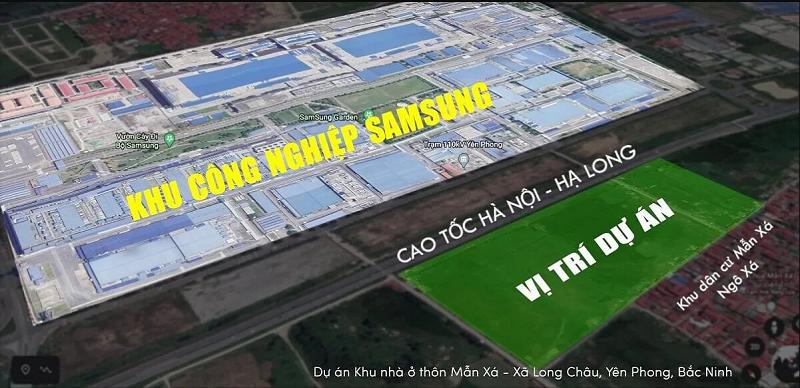 Vị trí khu nhà ở Mẫn Xá - Long Châu