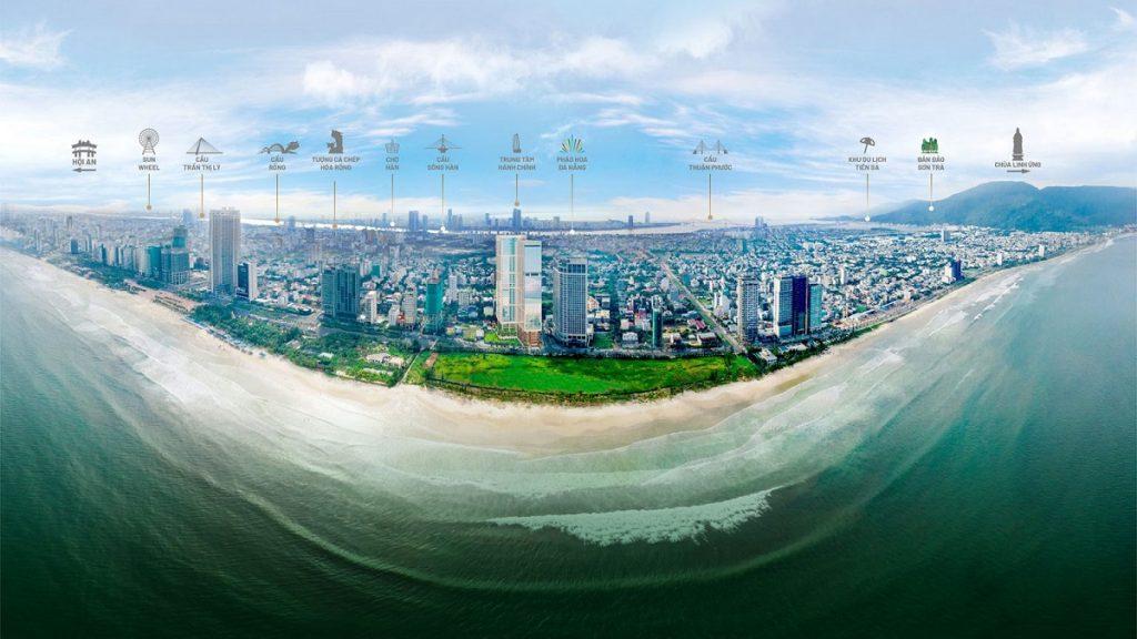 Vị trí thực tế The 6 Nature Đà Nẵng