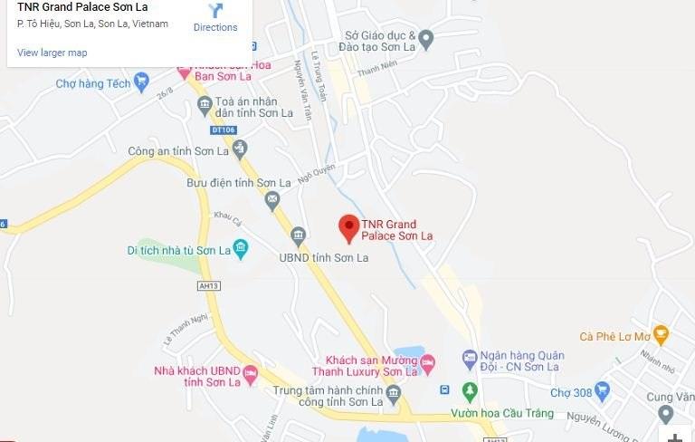 Vị trí dự án TNR Grand Palace Nậm La - Sơn La