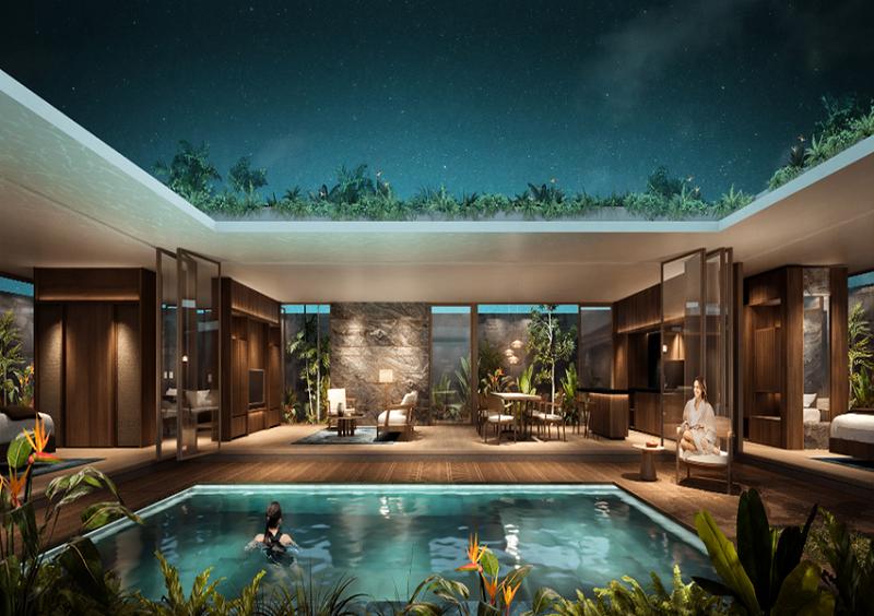 Bể bơi khách sạn dự án Apec Mandala Sky Villas Kim Bôi - Hòa Bình