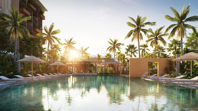Bể bơi Resort dự án Apec Mandala Sky Villas Kim Bôi - Hòa Bình