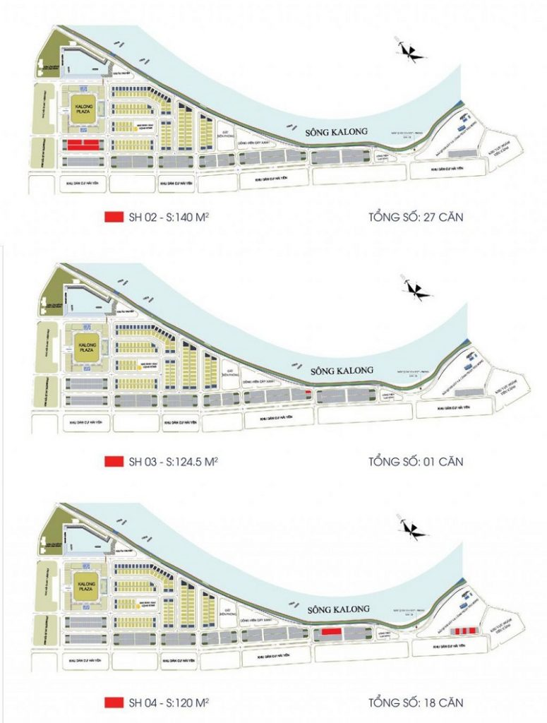 Các mẫu shophouse dự án Royal Riverside City Ka Long - Móng Cái
