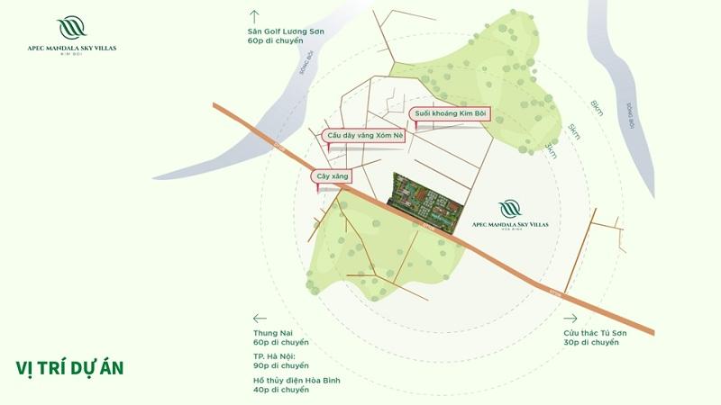 Kết nối dự án Apec Mandala Sky Villas Kim Bôi - Hòa Bình