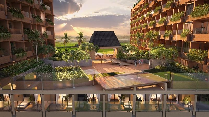 Không gian xanh dự án Apec Mandala Sky Villas Kim Bôi - Hòa Bình