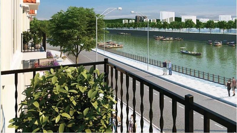 Không gian xanh Royal Riverside City Móng Cái - Kalong Riverside