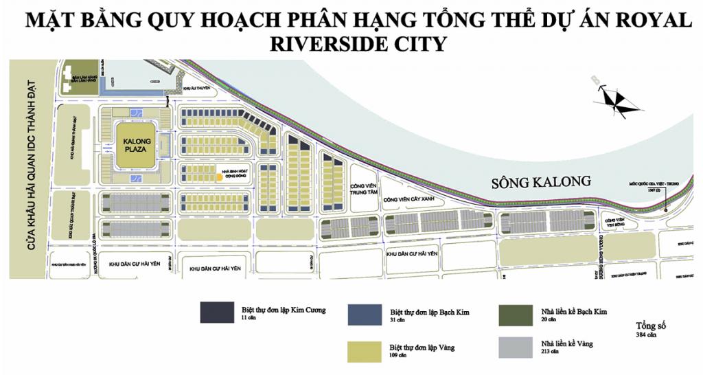 Mặt bằng dự án Royal Riverside City Ka Long - Móng Cái