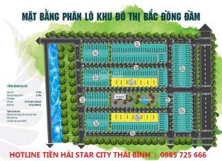 Mặt bằng phân lô Tiền Hải Star City Thái Bình - Bắc Đồng Đầm
