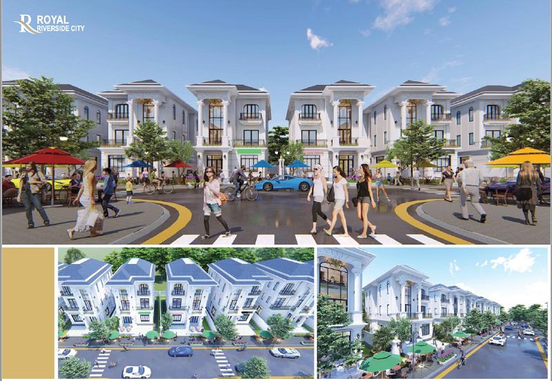 Phố đi bộ dự án Royal Riverside City Ka Long - Móng Cái