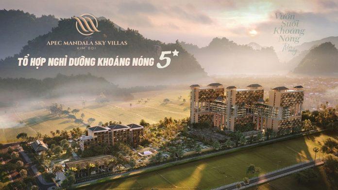 Phối cảnh 2 dự án Apec Mandala Sky Villas Kim Bôi - Hòa Bình
