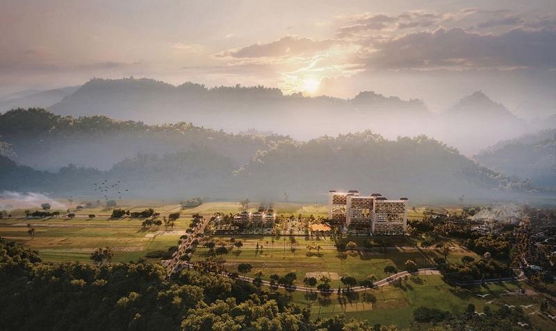 Phối cảnh dự án Apec Mandala Sky Villas Kim Bôi - Hòa Bình