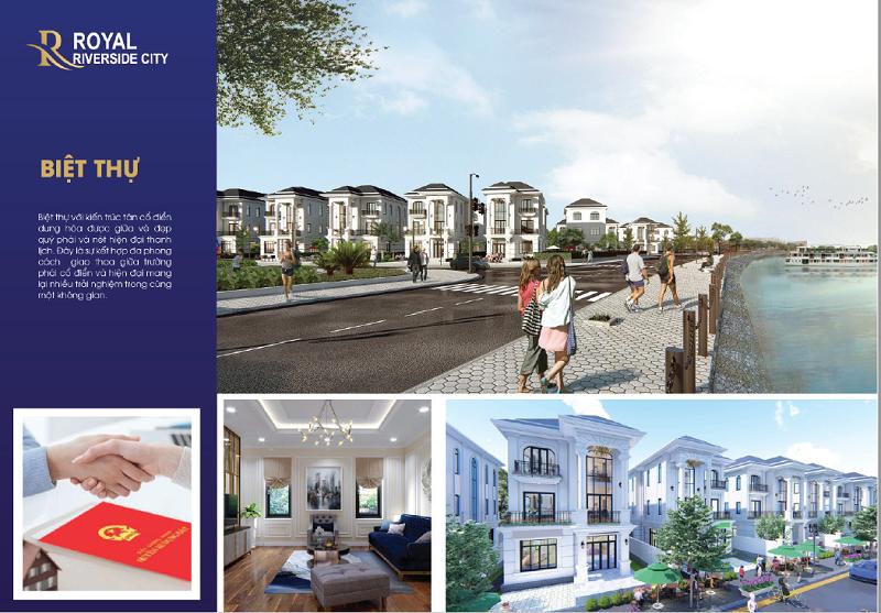 Phối cảnh biệt thự dự án Royal Riverside City Ka Long - Móng Cái