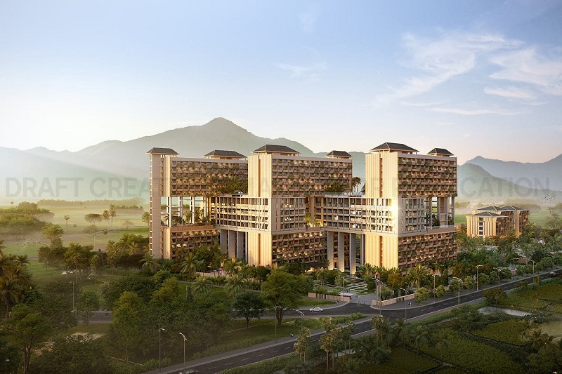 Phối cảnh Condotel dự án Apec Mandala Sky Villas Kim Bôi - Hòa Bình