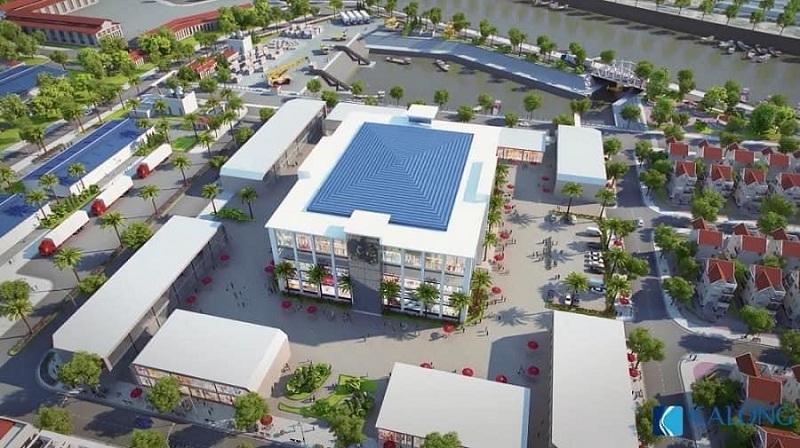 Phối cảnh TTTM Kalong Plaza cạnh dự án Royal Riverside City Móng Cái - Kalong Riverside
