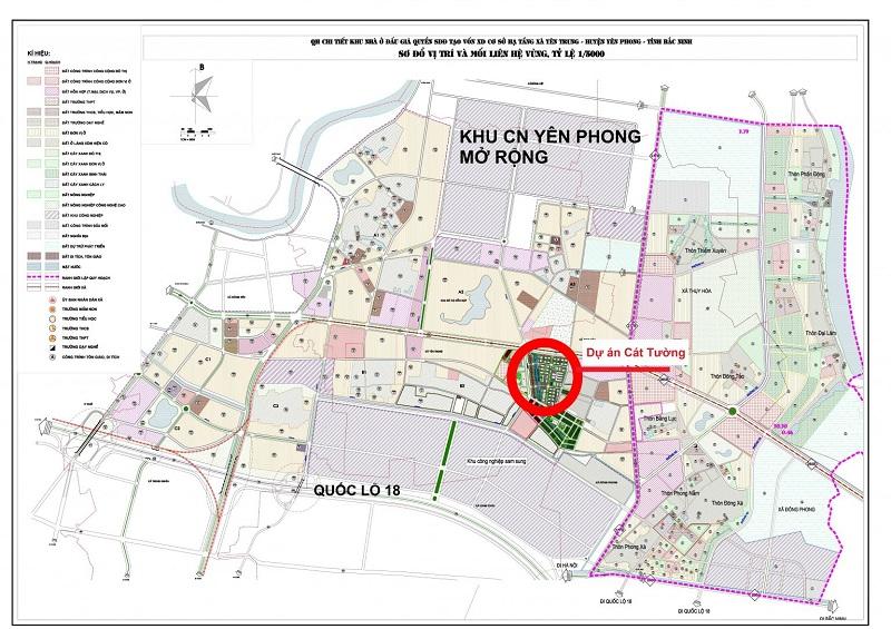 Quy hoạch khu nhà ở công nhân KCN Yên Phong - Bắc Ninh