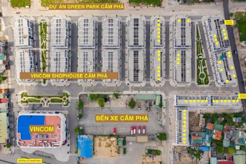 Quy hoạch Shophouse Platin Center Cẩm Phả