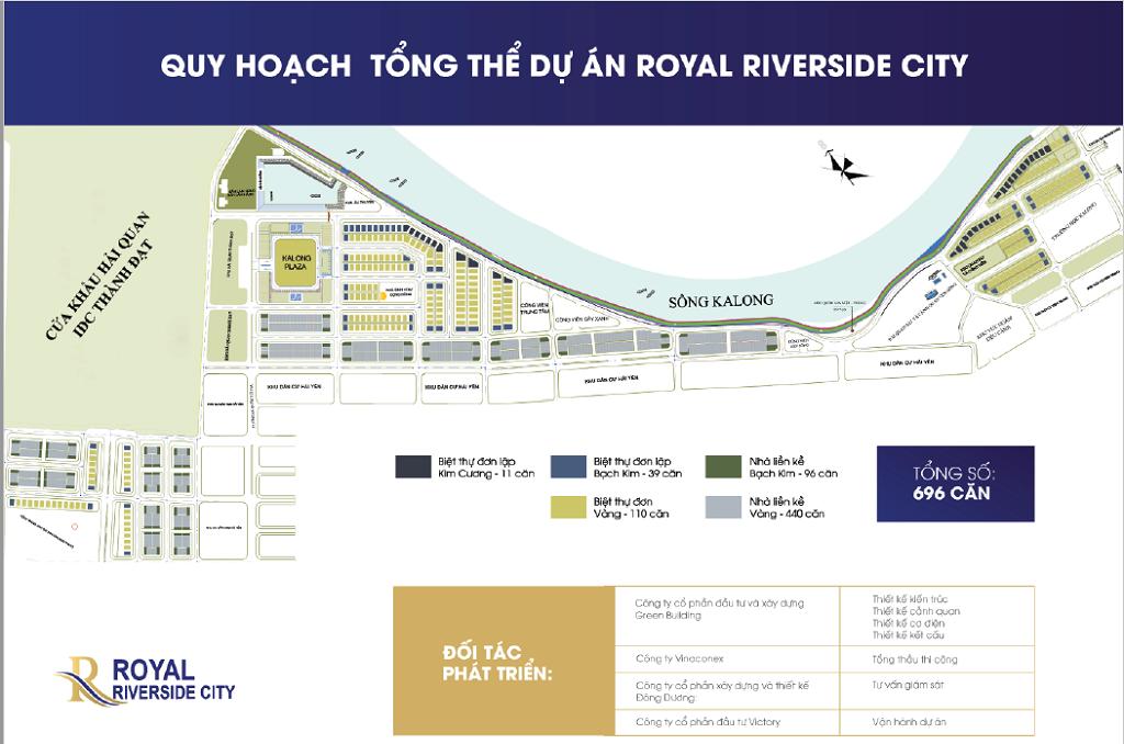 Quy hoạch tổng thể Royal Riverside City Ka Long - Móng Cái