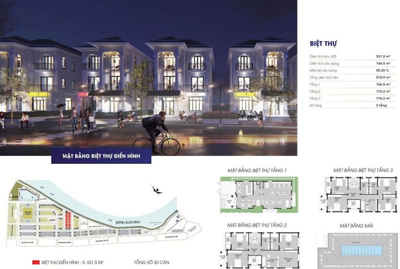 Thiết kế chi tiết biệt thự Royal Riverside City Ka Long - Móng Cái
