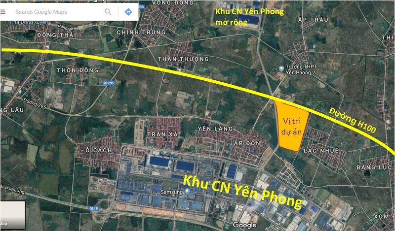 Vị trí Cát Tường Smart City Yên Phong - Bắc Ninh
