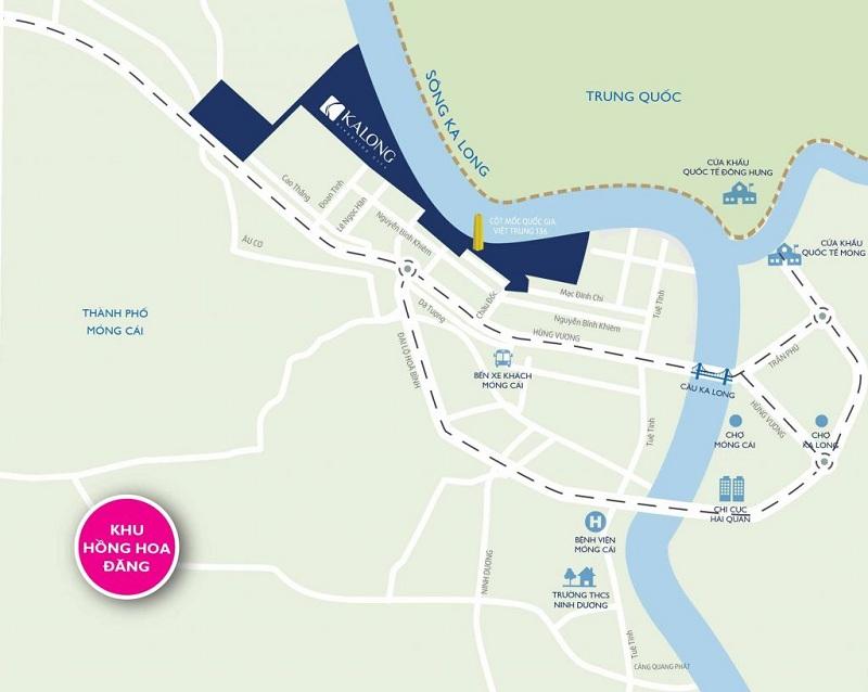 Vị trí Royal Riverside City Ka Long - Móng Cái