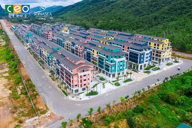 Ảnh thực tế 2 shoptel dự án Sonasea Vân Đồn Harbor City - CEO Group