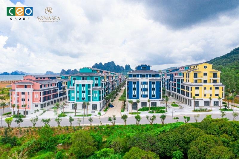 Ảnh thực tế 3 shoptel dự án Sonasea Vân Đồn Harbor City - CEO Group