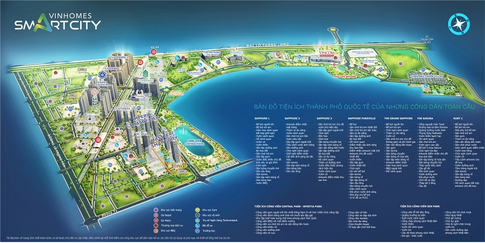 Bản đồ tiện ích Masteri West Height Smart City