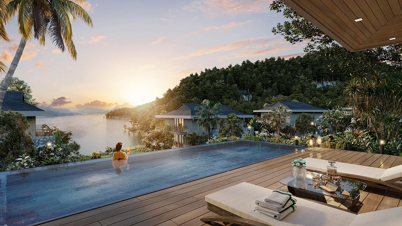 Bể bơi vô cực dự án Cullinan Resort Hoà Bình