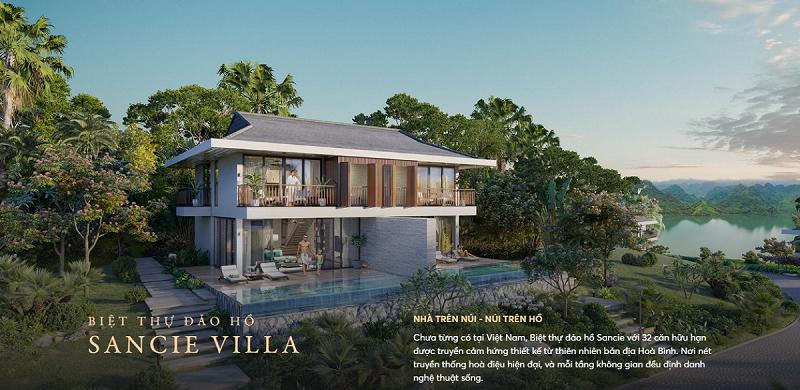 Biệt thự đảo hồ dự án Cullinan Resort Hoà Bình