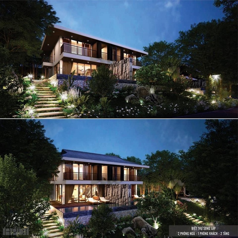 Biệt thự song lập dự án Cullinan Resort Hoà Bình