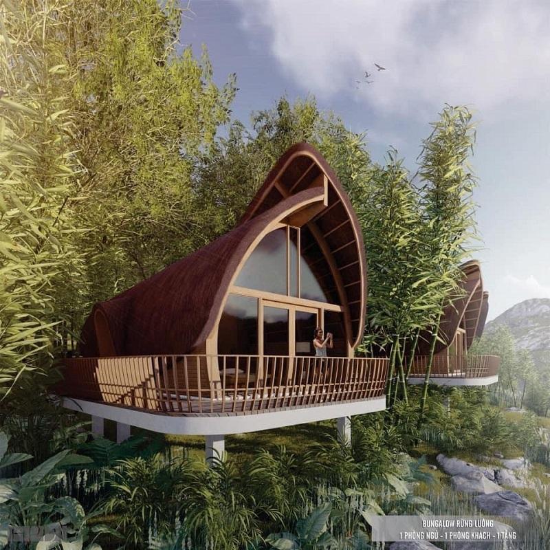 Bungalow Rừng Luồng dự án Cullinan Resort Hoà Bình