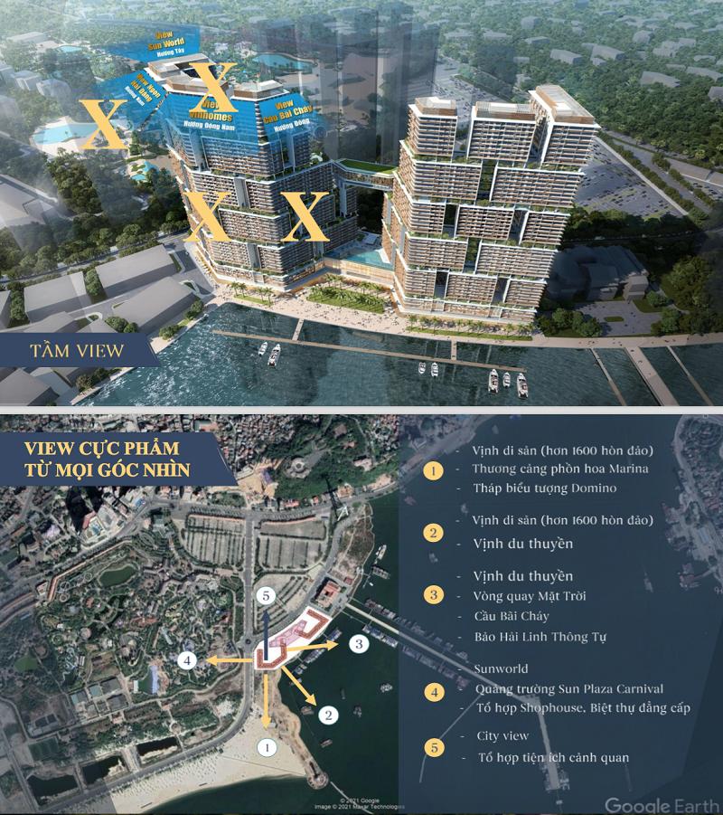 Các góc view từ căn hộ chung cư Sun Marina Town Hạ Long