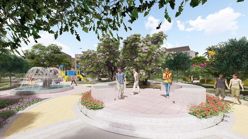 Công viên trung tâm biệt thự Lan Viên Villa Đặng Xá - Gia Lâm
