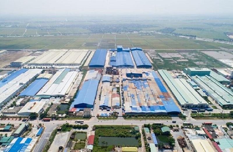 Ảnh Flycam cụm công nghiệp Tiền Hải - Thái Bình