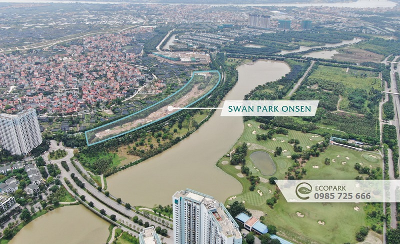 Flycam 1 vị trí Swan Park Onsen Residences Ecopark