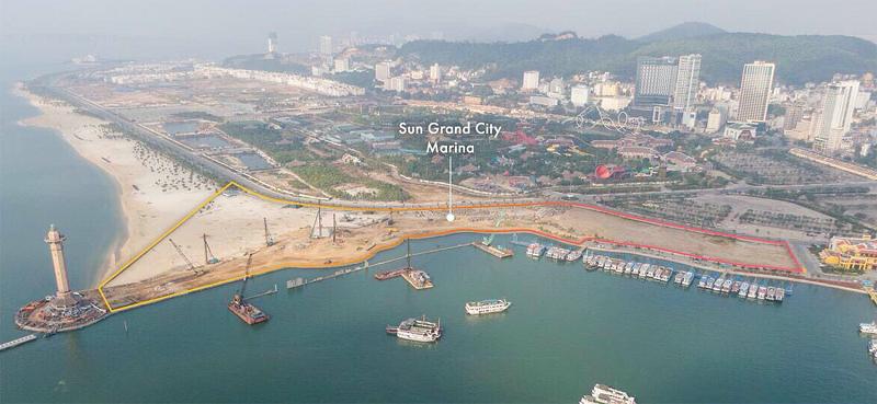 Flycam ảnh thực tế dự án Sun Marina Plaza Hạ Long