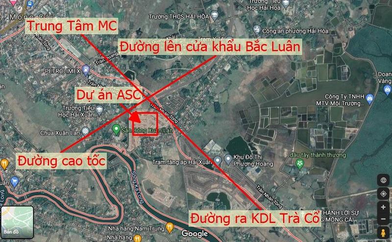 Kết nối Đất nền ASC Móng Cái đầu cầu Bà Mai